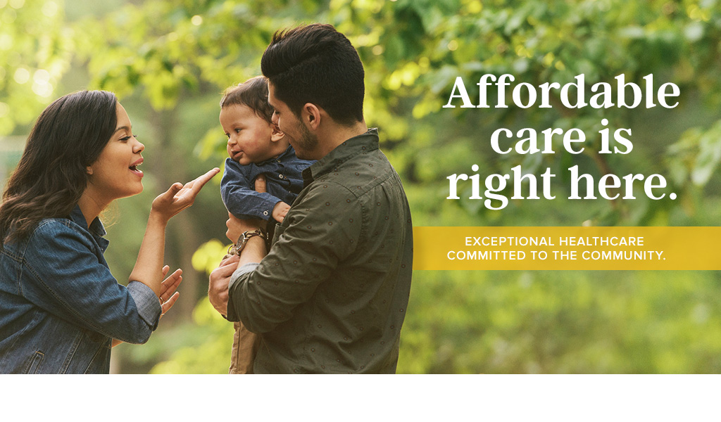 Affordable care in your community.